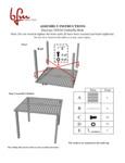 Instructions for BFM Seating SUD3636SGU Daytona Dining Table with Umbrella Hole