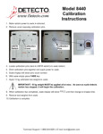 Instructions for Cardinal Detecto 8440 Pediatric Scale