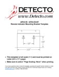 Instructions for Cardinal Detecto APEX-RI Digital Scale Mounting Bracket