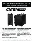 Instructions for CaterGator Insulated Products