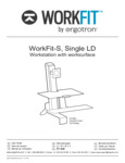 Instructions for WorkFit for Ergotron 33351200 33350200 Standing Desktop Desk with Single Monitor Arm