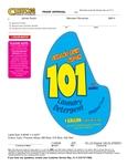 James Austin 101 Mountain Fresh Detergent Label