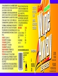 James Austin Wipe Away Orange Degreaser Label