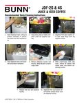 JDF-2S & 4S Cleaning Instructions