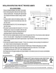 JL Industires Fire-Rated Cabinet Installation Instructions