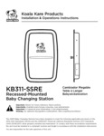 Koala Kare KB311SSRE Instructions