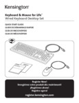Kensington Keyboard and Mouse for Life_User Manual