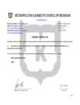 Kosher Certification Letter