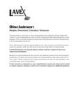 Lavex Mat Disclaimer