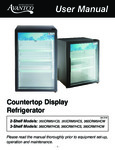 Manual for Avantco Refrigeration 360CRM Countertop Display Refrigerators