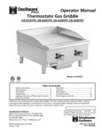 Manual for Cecilware Thermostatic Gas Griddles