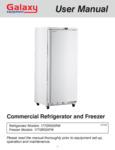 Manual for Galaxy GRI-20 Reach-In Refrigeration