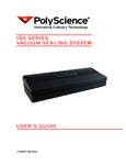 Manual for PolyScience 150 Series Vacuum Sealing System
