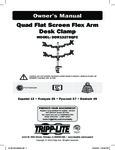 Manual for Tripp Lite DDR1327SQFC Monitor Arm