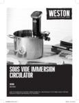 Manual for Weston 36200 Sous Vide Immersion Circulator