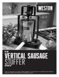 Manual for Weston 86-0501-W 5 lb. Vertical Sausage Stuffer