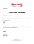 Gluten Free Statement