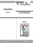 Nemco GS1516 Popcorn Popper Manual