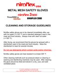 Niroflex Mesh Gloves Instructions