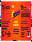 Fryclone Boil-Out Fryer Cleaner Label