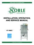 Noble Warewashing HT180EC Manual