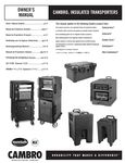 Owner's Manual_Insulated Transporters_Cambro