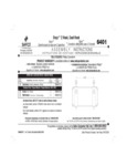 Safco 5476401BL Instructions