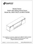 Safco Mirella MRHTWD72 & MRHTWD66 Hutch Sliding Wood Doors Assembly Instructions
