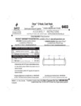 Safco 5476403BL Instructions