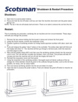 Shutdown & Restart Instructions