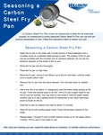 Seasoning A Carbon Steel Fry Pan