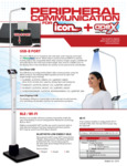 Sell Sheet for Cardinal Detecto APEX Eye-Level Digital Clinical Scale Peripheral Communication Options