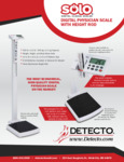 Sell Sheet for Cardinal Detecto Solo Digital Scale