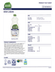 Seventh Generation 25 oz. Professional Dish Liquid Label