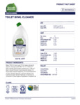 Seventh Generation 32 oz. Professional  Toilet Bowl Cleaner Label