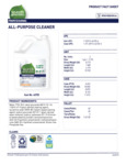 Seventh Generation Professional 1 Gal All Purpose Cleaner Label