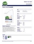 Seventh Generation Professional 1 Gal Tub Tile Cleaner Label