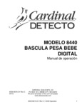 Spanish Manual for Cardinal Detecto 8440 Pediatric Scale