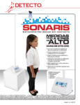 Spanish Specsheet for Cardinal Detecto SONARIS Touchless Sonar Stadiometer