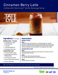 Tate & Lyle Cinnamon Berry Latte Recipe