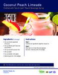 Tate & Lyle Coconut Peach Limeade Recipe