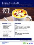 Tate & Lyle Golden Rose Latte Recipe