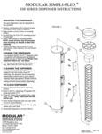 Tomlinson Simpli-Flex ESF Series Ice Cream Cone Dispenser Instructions
