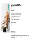 Torani Lychee Bubble Milk Tea Recipe