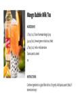 Torani Mango Bubble Milk Tea Recipe