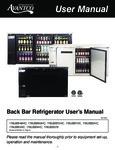 Avantco UBB Series New Manual