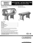 User Manual_Versa Food Bars_Cambro