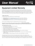 Avantco 2 Year Equipment Warranty