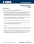 Kason 1808NMA/FMA LED Fixture Warranty