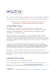 Ergotron Warranty